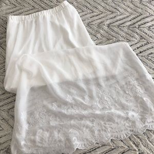 Candies White Lace Maxi Skirt (Size S)